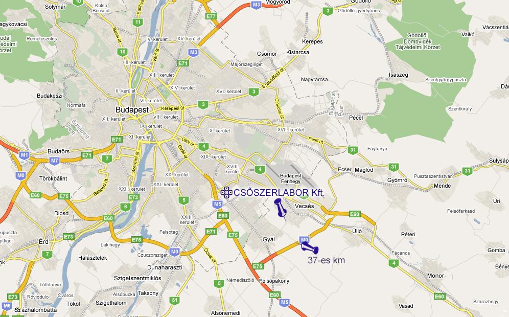 vecsés térkép CSŐSZERLABOR Anyagvizsgáló és Szolgáltató Kft. vecsés térkép